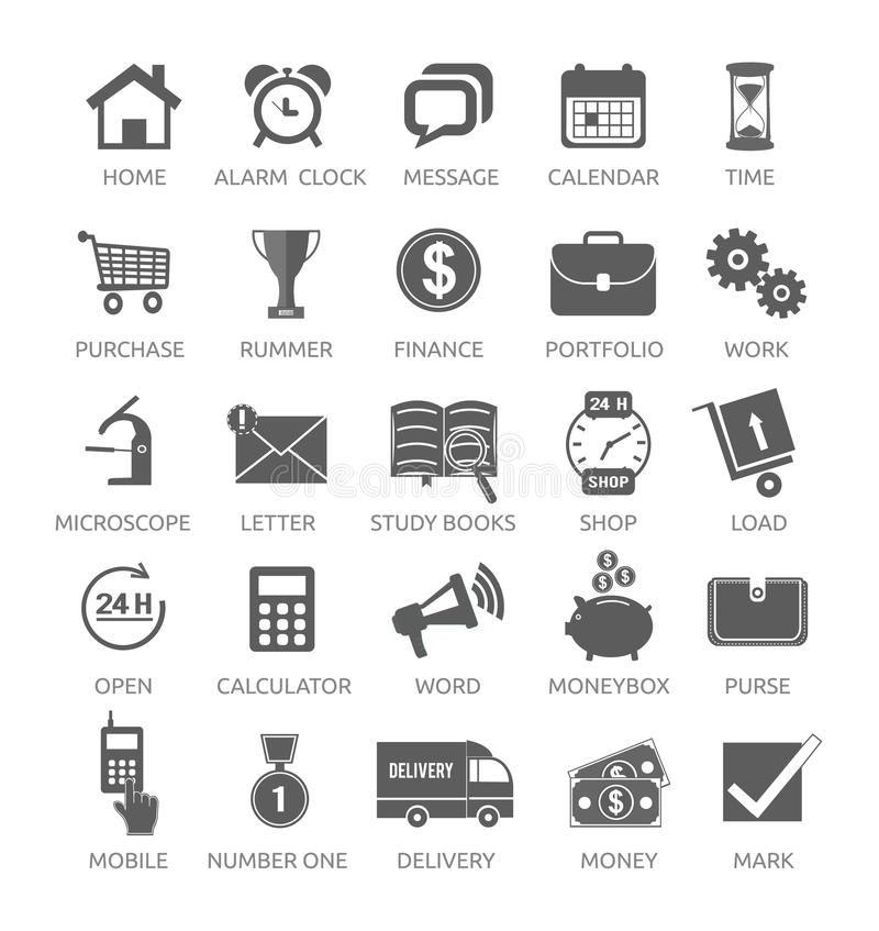 Icons For Web And Mobile Applications Stock Vector - Illustration of ...