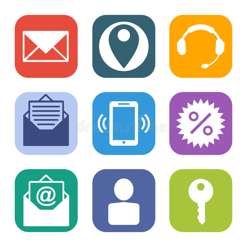 Icons for the web site stock illustration