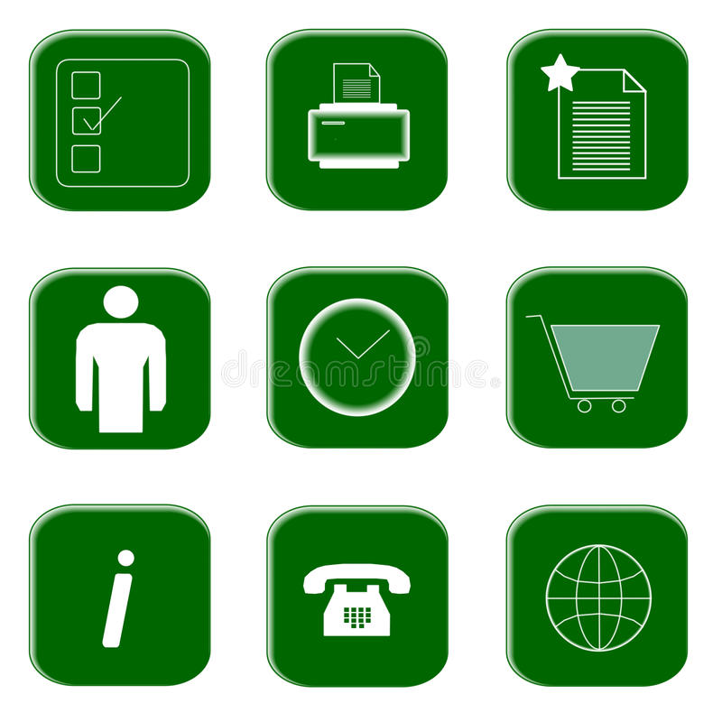 Icons for website and internet stock photo