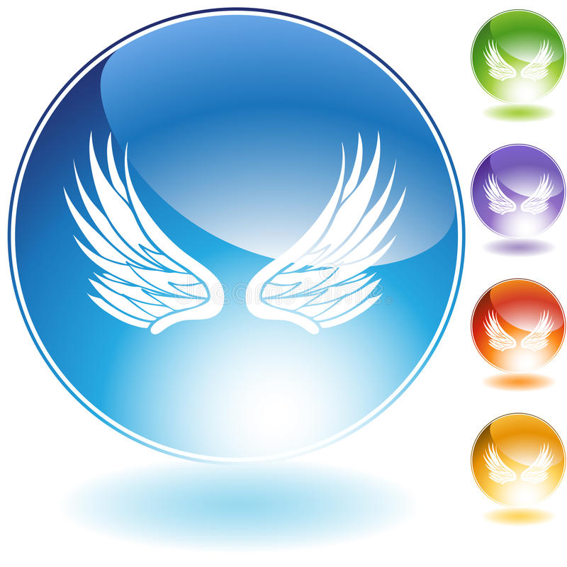 Icons - Wings stock illustration