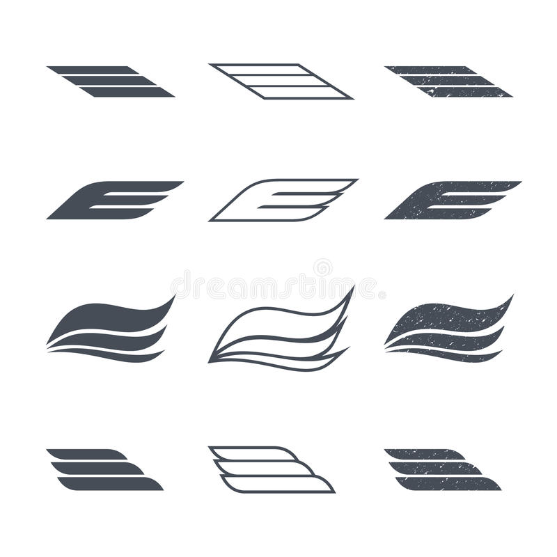 Icons wings vector illustration