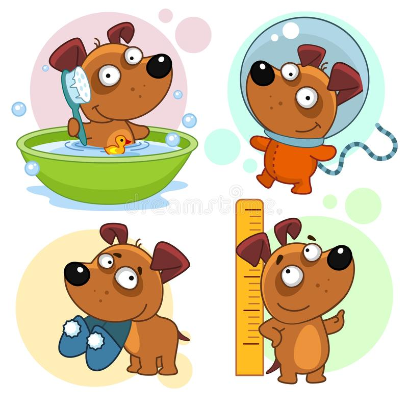 Free Icons With Dogs Part 26. Royalty Free Stock Photo - 129815435