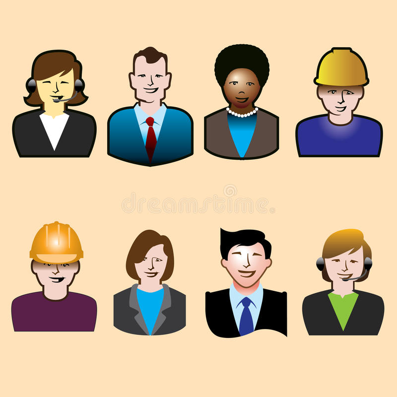 Download Icons of workers stock vector. Illustration of clothing - 27221771