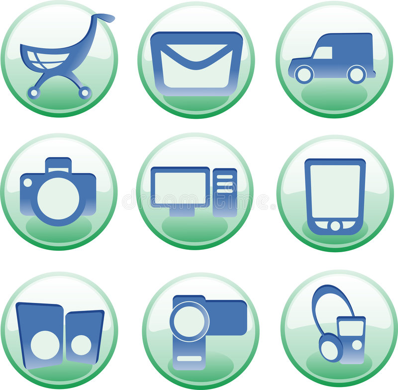 Download Iconset for e-shop stock vector. Image of internet, commerce - 3851385