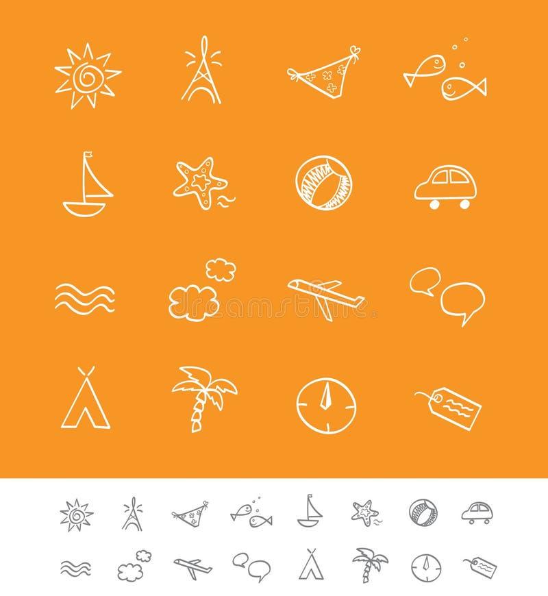 iconsetsommarlopp vektor illustrationer