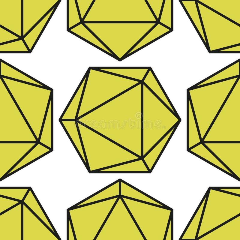 Icosahedronmodell vector2 royaltyfri illustrationer