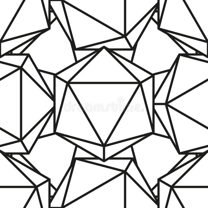 Icosahedronmodell vector4 stock illustrationer