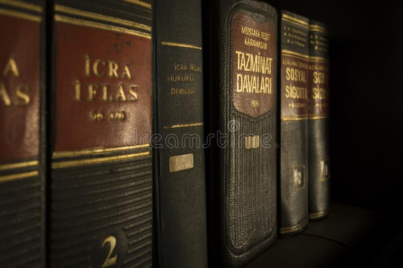Icra Iflas Piled Book royalty free stock photos