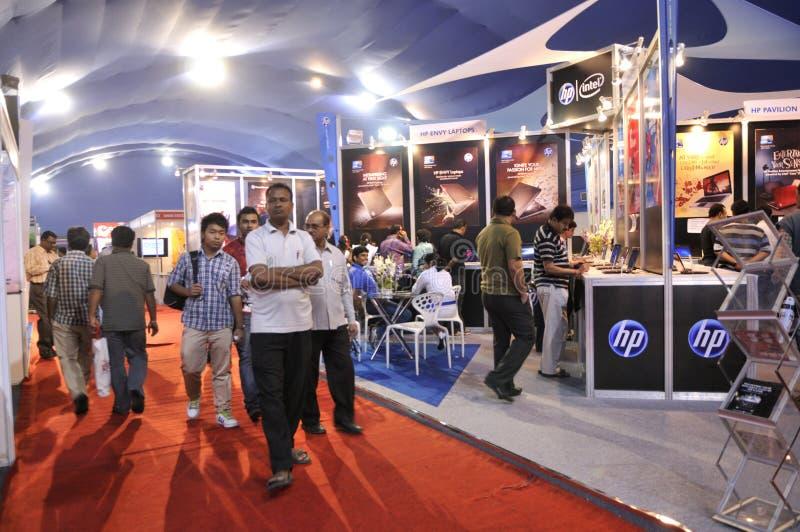 ICT公平在加尔各答。 免版税库存图片