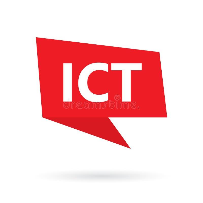 ICT在讲话泡影的信息和通讯技术首字母缩略词 皇族释放例证