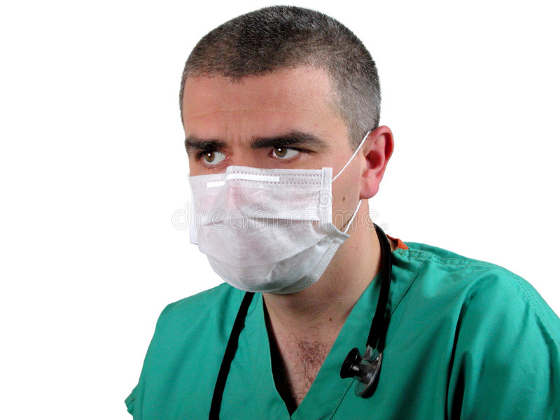 ICU doctor stock photo