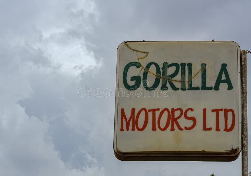 Icukiro Gorilla Motors Ltd är på vägen för KN 3 royaltyfria bilder