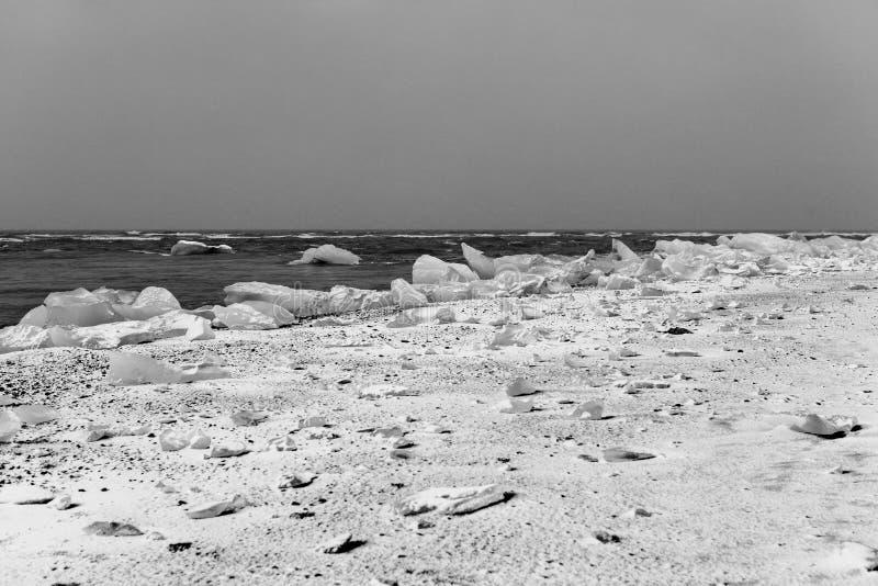 Icy beach stock photos