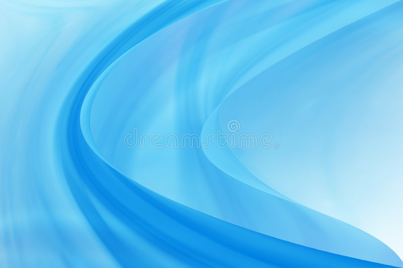 Icy blue curves. Blue abstract, layered curves royalty free illustration