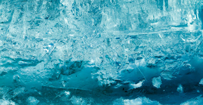 Icy blue world stock photography