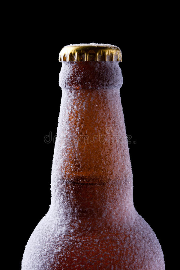 Icy bottle royalty free stock photography
