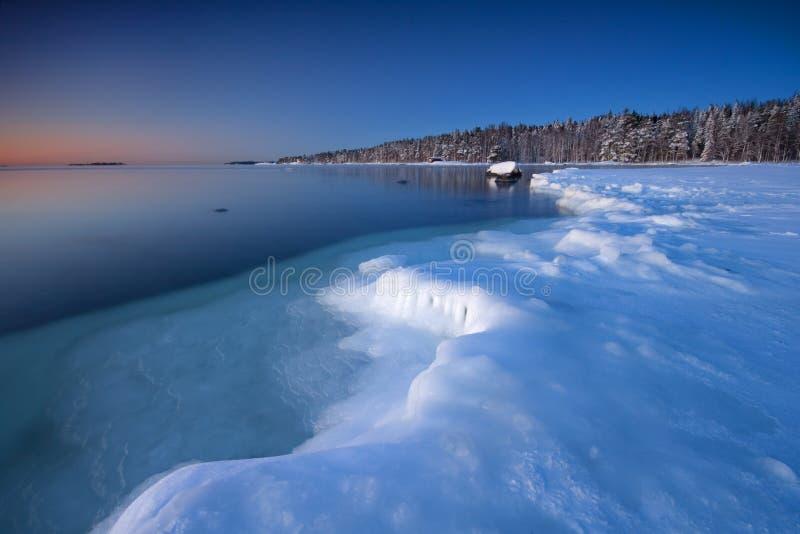 Icy coast of Helsnki stock photography