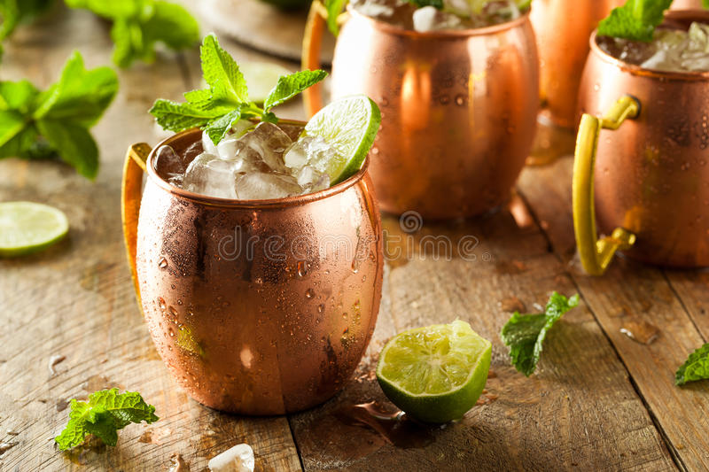 Icy Cold Moscow Mules stock image