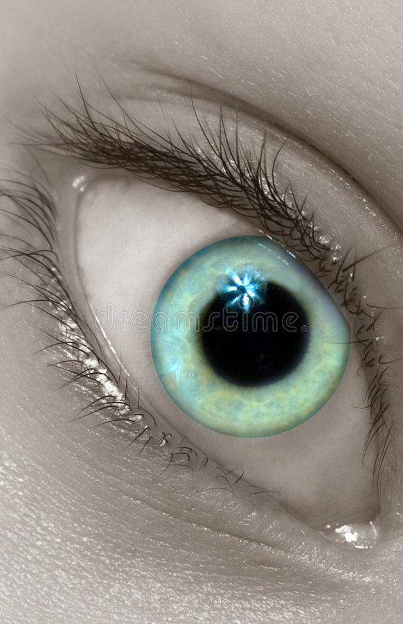Icy Eye royalty free stock image