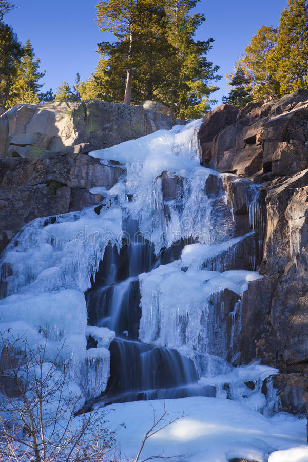 Download Icy Frozen Water Fall stock image. Image of lake, forest - 22949823