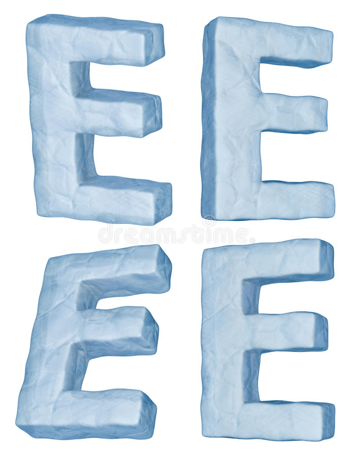 Download Icy letter E. stock illustration. Image of latin, group - 17347100