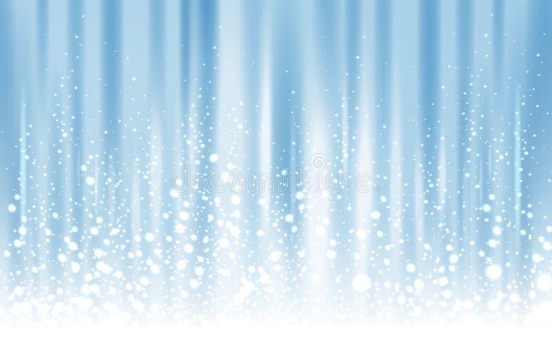 Icy light blue background royalty free illustration