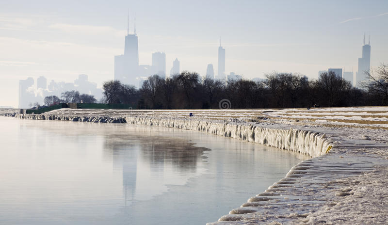 Download Icy morning in Chicago stock image. Image of sears, scene - 21851337