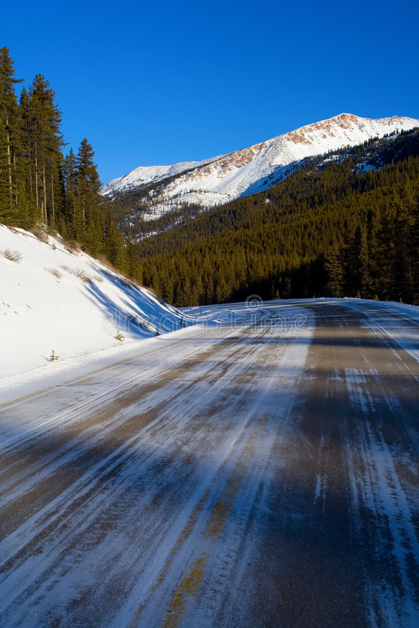 Download Icy Mountain Road stock image. Image of frozen, jasper - 505799