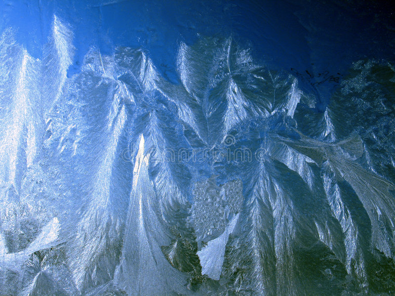 Icy pattern. On window, frosty winter royalty free stock image