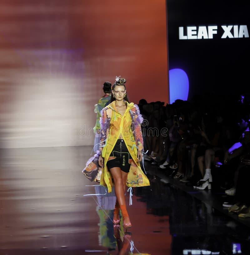 ICY Présente : piste SS2020; Semaine de la mode à New York Conception par Leaf Xia photographie stock libre de droits
