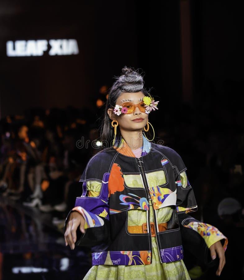 ICY Présente : piste SS2020; Semaine de la mode à New York Conception par Leaf Xia image libre de droits