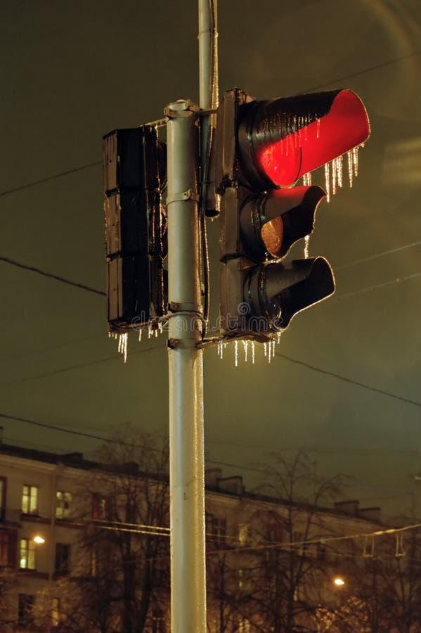 Download Icy red arkivfoto. Bild av istappar, färgrikt, stads, rött - 284464