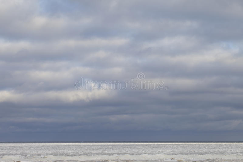 Download Icy sea. stock image. Image of cloudscape, cloudy, baltic - 23579469
