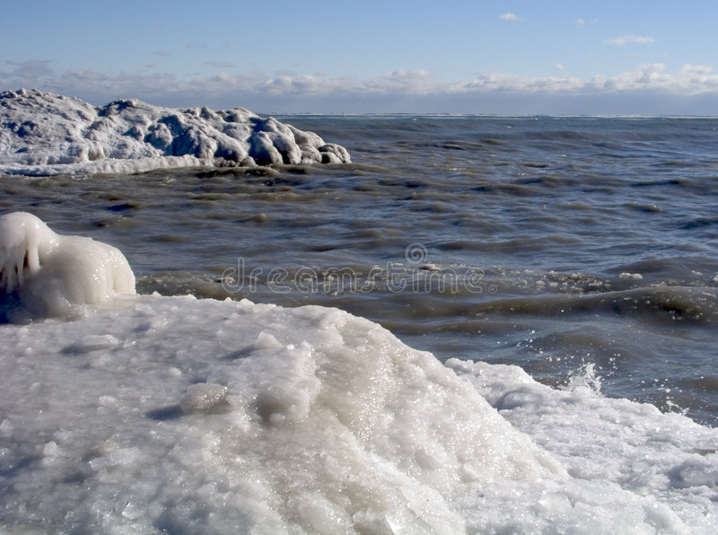 Download Icy Shore 15 stock image. Image of tsunami, brown, winter - 170581