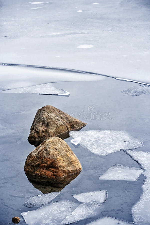 Download Icy shore in winter stock image. Image of freezing, outdoor - 33780625