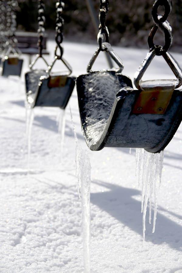 icy swings royaltyfria bilder