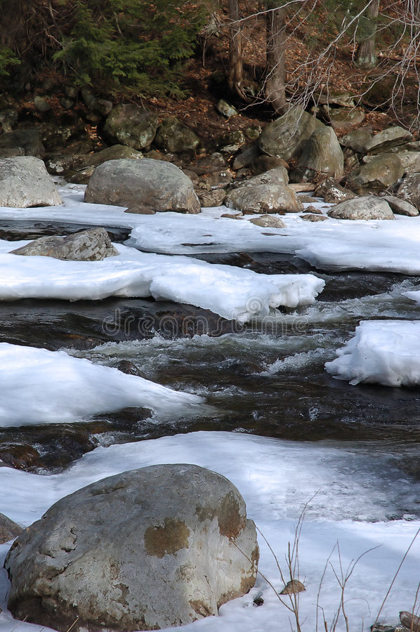 Icy Waterscape I royalty free stock photos