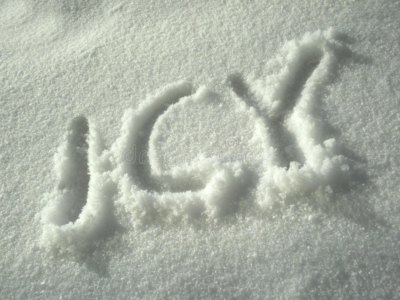 Download Icy Written In White Snow Royalty Free Stock Images - Image: 20368179