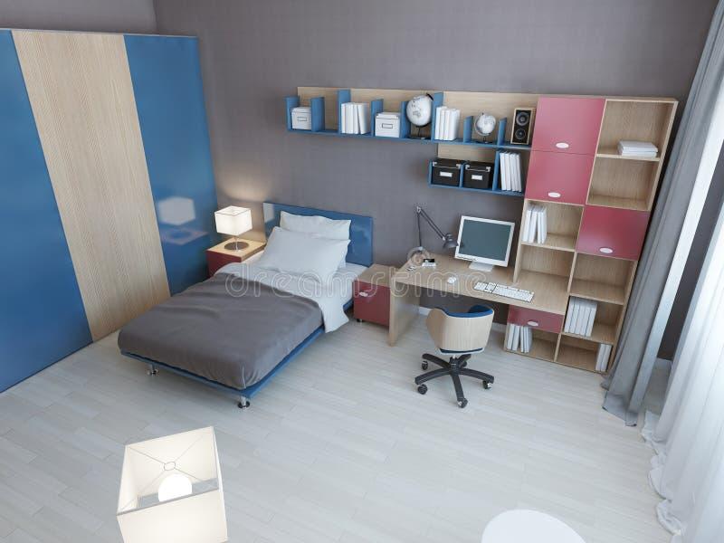Idé av det moderna sovrummet för barn royaltyfri illustrationer