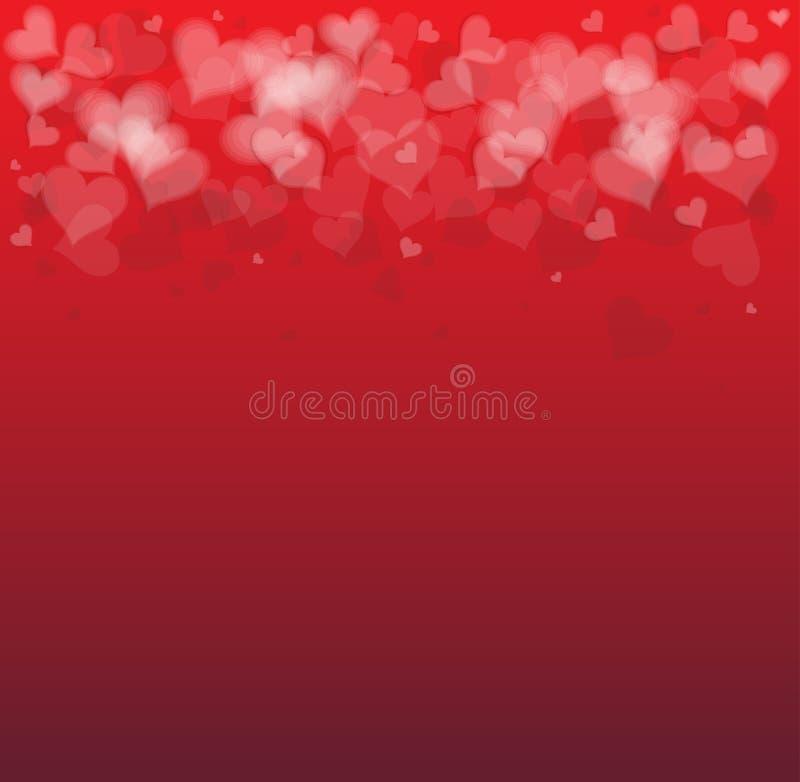 Idé av en bakgrund för valentindagkort stock illustrationer