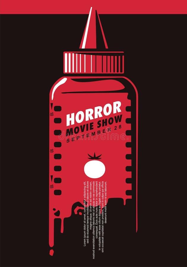Idé för affisch för show för fasafilm idérik stock illustrationer
