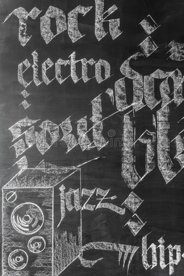 Idé för musikväggdekor arkivbild