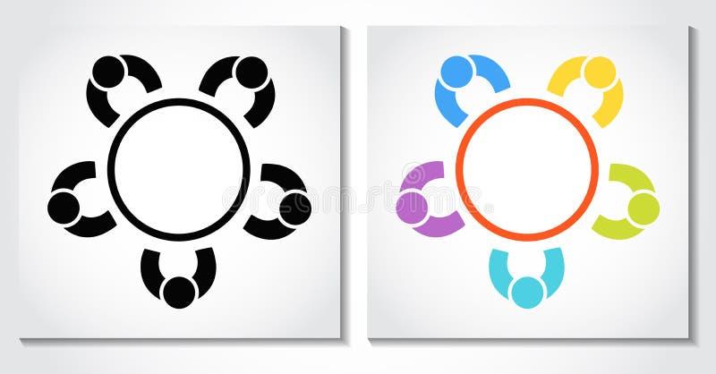 Idé för vektor för affär för begrepp för symbol för affärsmöte royaltyfri illustrationer