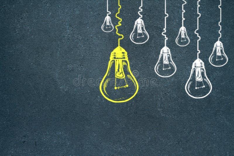 Idé-, innovation- och ledarskapbegrepp vektor illustrationer