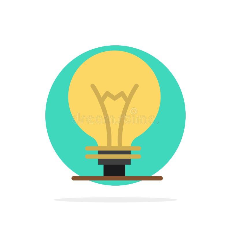 Idé innovation, uppfinning, för abstrakt begreppcirkel för ljus kula symbol för färg för bakgrund plan royaltyfri illustrationer