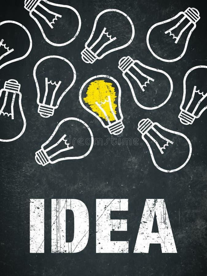 Idé - ljusa kulor och text royaltyfri illustrationer