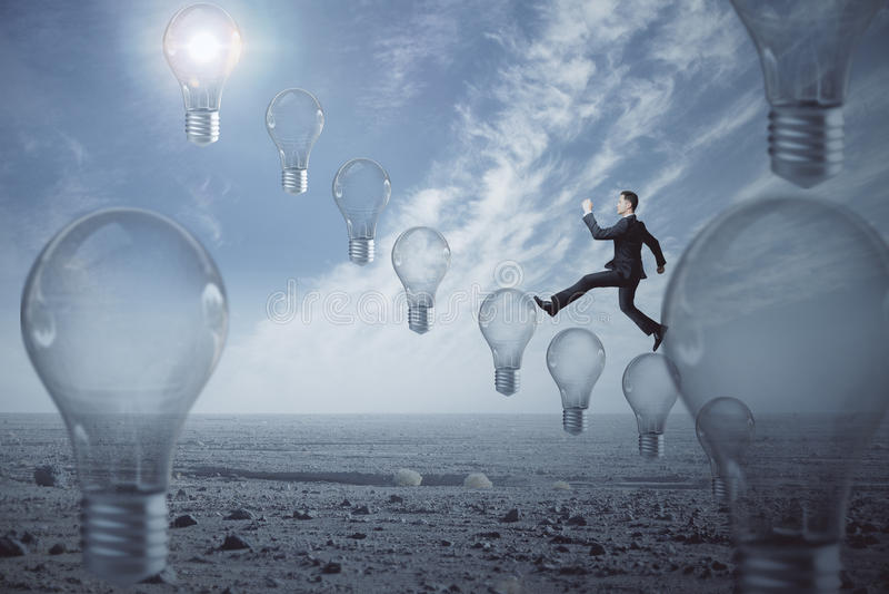 Idé och innovationbegrepp royaltyfria foton