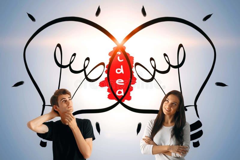 Idé- och teamworkbegrepp royaltyfria bilder