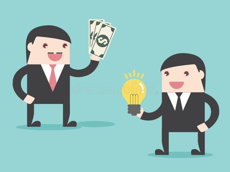 Idéaffär som gör pengar stock illustrationer