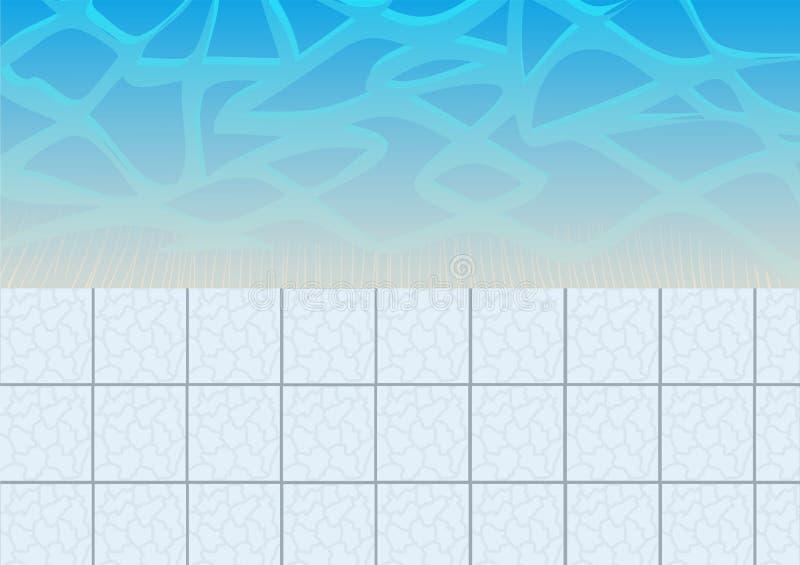 Idéal de piscine et de tuile pour des milieux, illustration courante de vecteur illustration stock